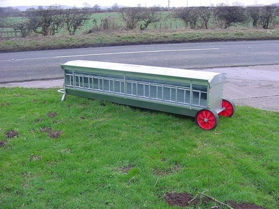 creep painted feeders sheep for project or sheeted x single sided galv lamb moyfab feeder